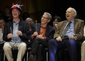 Rich Roberts, Eric Maskin ve Jerry Friedman ödül töreninde.