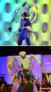 Japon Skeletonics firmasının eğlence amaçlı ürettiği dış iskelet modelleri, endüstriyel veya tıbbi herhangi bir işleve sahip olmasa da, eğlence sektörünü başarıyla besliyor.